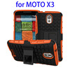 2 In 1 Pattern Belt Clip hybrid phone case for moto x3 case with Kickstand