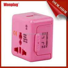 Wonplug Mini applied poerful usb travel adaptor with LED Light