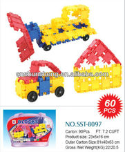 Rojo sst-8097 la construcción de ladrillos, bloques de construcción de juguetes ladrillos