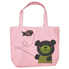 Fashion Hot Selling Foldable Zipper Canvas Shopping Tote Bag For Teens