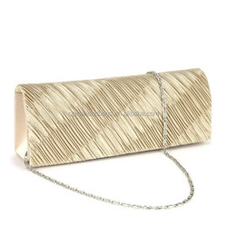 high qualtiy clutch gold color bags evening bags for private lable use