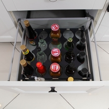 ABS Plastic Heightened Bottles Divider, Deep Drawer insert for Tall Bottles Storage