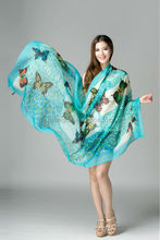 2015 polyester fabric lady polyester beach scarf