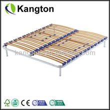 Single Steel Bed Frame with Wood Stand