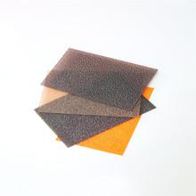Polycarbonate solide feuille de couverture transparente c / markrolon lexan polycarbonate feuille gaufrée