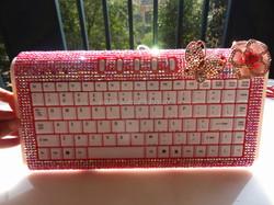 Rhinestone laptop keyboard