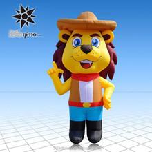 3mH cool design inflatable Cowboy cartoon lion
