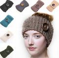 La mode des femmes jphair150482 2015 wholesal 18 couleur extérieur. européenne hot vente bois boutonsbouton bandeaux tissés à la main en laine