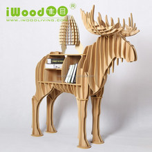 North Euro wooden Stag shape animal table cofee table