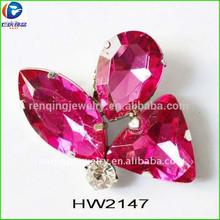 رن تشينغ مصنع hw2147 جمع الأحذية زهرة الفراشة ملابس والاحذية والحقائب مطابقة الزينةديكورات جوهرة
