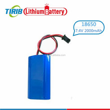 Cylindrical 2000mah 18650 Li-ion Rechargeable Electric Tool Battery Pack