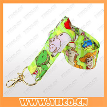 custom sublimation polyester lanyard neck strap