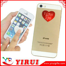YS113 heart shape self adhesive microfiber sticker screen cleaner for hand phone