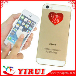 YS113 heart shape self adhesive microfiber sticker screen cleaner for hand phone