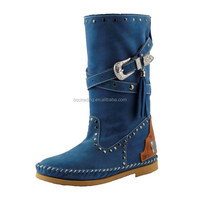 2016 Ladies Flat Latest Top Quality Women Sexy Genuine Italian Leather Boots
