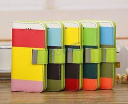rigid phone case for iphone 5c for cellphone with colorful print leather case