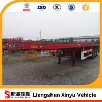 3axle 40ft 12 bundle tube skid container CNG long tube skid container semi trailer
