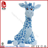 ICTI spotted plush blue giraffe toy manufacture