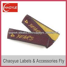 Etiqueta personalizada/prendas de vestir de la etiqueta tejida/etiqueta principal