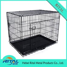 Indoor or Outdoor folding black dog cage
