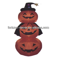 240cmH/8ft Inflatable Halloween decoration pumpkins with hat