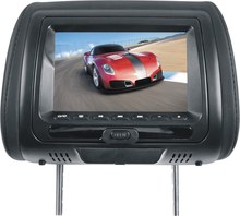 7 inch car back seat headrest dvd lcd monitor with zipper cover