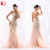 2015 Sexy New Fashion Gorgeous Evening Gown Stylish Appliqued Halter Elegante Vestidos De Noite