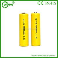 china alibaba supplier ni-cd aa 300mah 1.2v rechargeable battery
