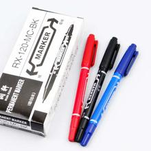 Wholesale small double tip marker three colors marker pen