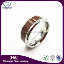 wholesale fashion jewelry engagement ring men's ring wood ring