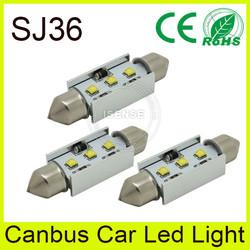 For honda city 36mm led festoon light t10 socket led canbus bulb made in China
