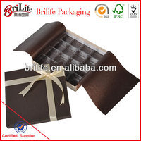 Hot selling empty chocolate gift box wholesale in Shanghai