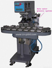 high quality china manufacturer 2-Colour Conveyor sealed ink cup Pad Printer &Auto water process system for gift product and pen