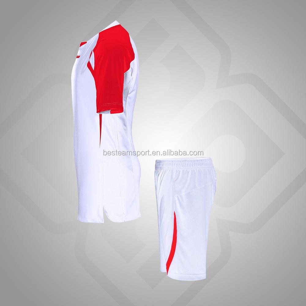 blanco/Rojo inteligente transpirable conjunto de camiseta de fútbol ...