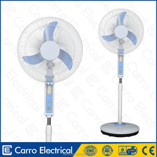 Indoor use 12 volt electric brushless motor stand fan whisper quiet stand fan