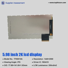 IPS 1440*2560 6.0 inch oem touch screen lcd display TF60010A