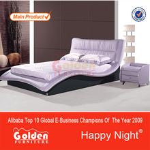 Foshan fábrica de muebles de cuero de color púrpura mueblesdeldormitorio para la venta( 2821#)