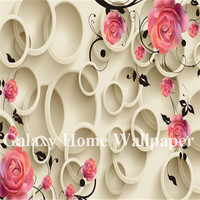 Custom size European wallpaper 3D flowers Mural