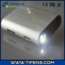 Aluminum Power bank with LED light Charger 6000mAh
