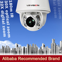 LS VISION 2mpx pan/tilt/zoom outdoor ip camera rj45