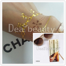 Wholesale flower flash tattoos gold and silver