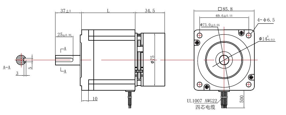 bm brand high precision 4 axis 8 5nm 1204oz in  nema 34 stepper motor with braker u0026 driver kit