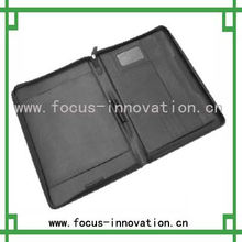 2013 hot selling zippered leather padfolio