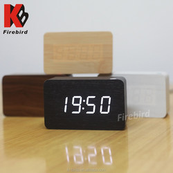 promotional latest gift items motorcycle clock rectangle blue led dispaly decoration clock