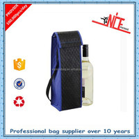 recycled non woven wine bottle cooler bag with cover