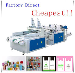 Factory direct DFR Series high quality and cheapest plastic carry bag making machine in Ruian