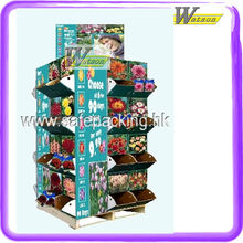 Dry goods promotional shelf, cardboard pallet display stand for dry goods in supermarket