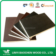 9mm hardwood core wbp glue film face plywood / black film faced plywood sheet