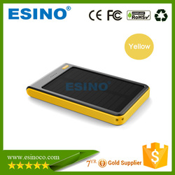 5000mah Solar Power Bank with solar panel ,mobile battery power banks charger with Customized logo