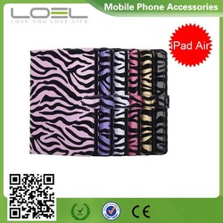 Zebra Stripe Leather Case for iPad Air 2